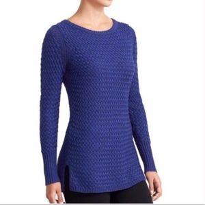 Athleta Cypress Blue Knit Long Sleeve Sweater S